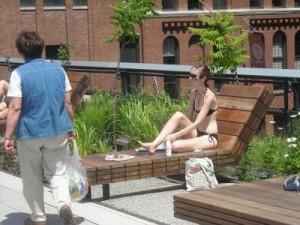 Sunbathing on the High Line