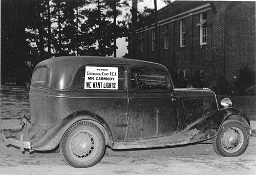 """Car with Message for John Carmody"" circa 1938 (Franklin D. Roosevelt Presidential Library)"