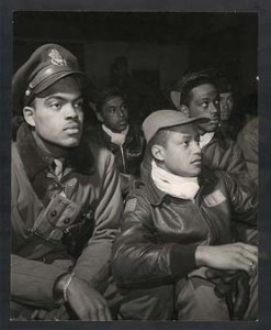 Members of the Tuskegee Airmen in Italy, 1945 (photo from Wikipedia)