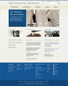 One of four web designs for Archives.gov