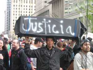 Immigrant rights march, May 1, 2006, Seattle; from Seattle Civil Rights and Labor History Project