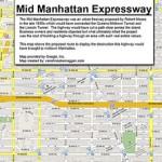 Moses' proposed Mid-Manhattan subway