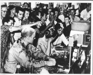 Sit-in at Woolworth lunch counter in Jackson, Mississippi, May 28, 1963